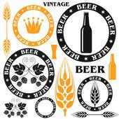 Beer labels — Stock Vector