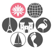 Tourism icons set — Stock Vector