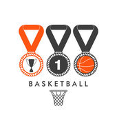 Basketball medals — Stock Vector