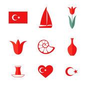 Turkey Icon set — Stock Vector