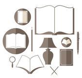 Book icon set — Stock Vector