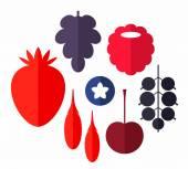 Berry icons Set — Stock Vector