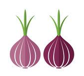 Onion icons set — ストックベクタ