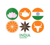 India Icon set — Stock Vector