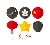 China Icon set — Stock Vector