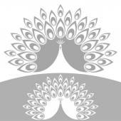 Abstract peacock icon — Stock Vector