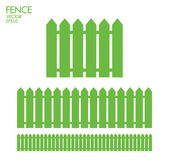 Green wooden Fence — Stock Vector