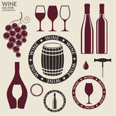 Wine icons Set — Stock Vector