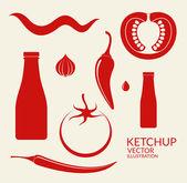 Tomato Ketchup icons — Stock Vector