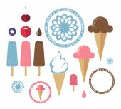 Ice cream icons Set — Stock Vector