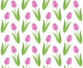 Floral pattern with Tulips — Stock Vector