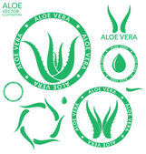 Aloe Vera icons — Stock Vector