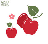 Red apple icons — Stock Vector