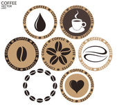 Coffee label set — Stock Vector