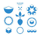 Sugar icon set — Stock Vector