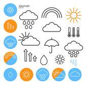 Weather icon set — Stock Vector