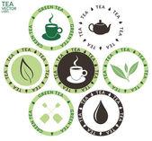 Tea Labels  set — Stock Vector