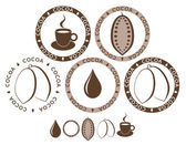 Cocoa icon set — Stock Vector