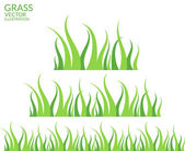 Grass flat icons — Stock Vector