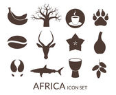 Africa icons set — Stock Vector