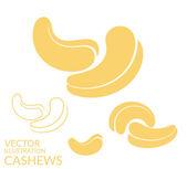 Cashews icons set — Stock Vector