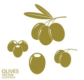 Olives icons set — Stock Vector