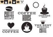 Coffee icons set — Stock Vector