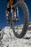 Mountainbiking - Mountainbike — Stock Photo