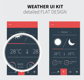 Mobile flat design of Weather forecast — Stock Vector