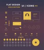 Clean Vector flat design ui kit for webdesign — Stock Vector