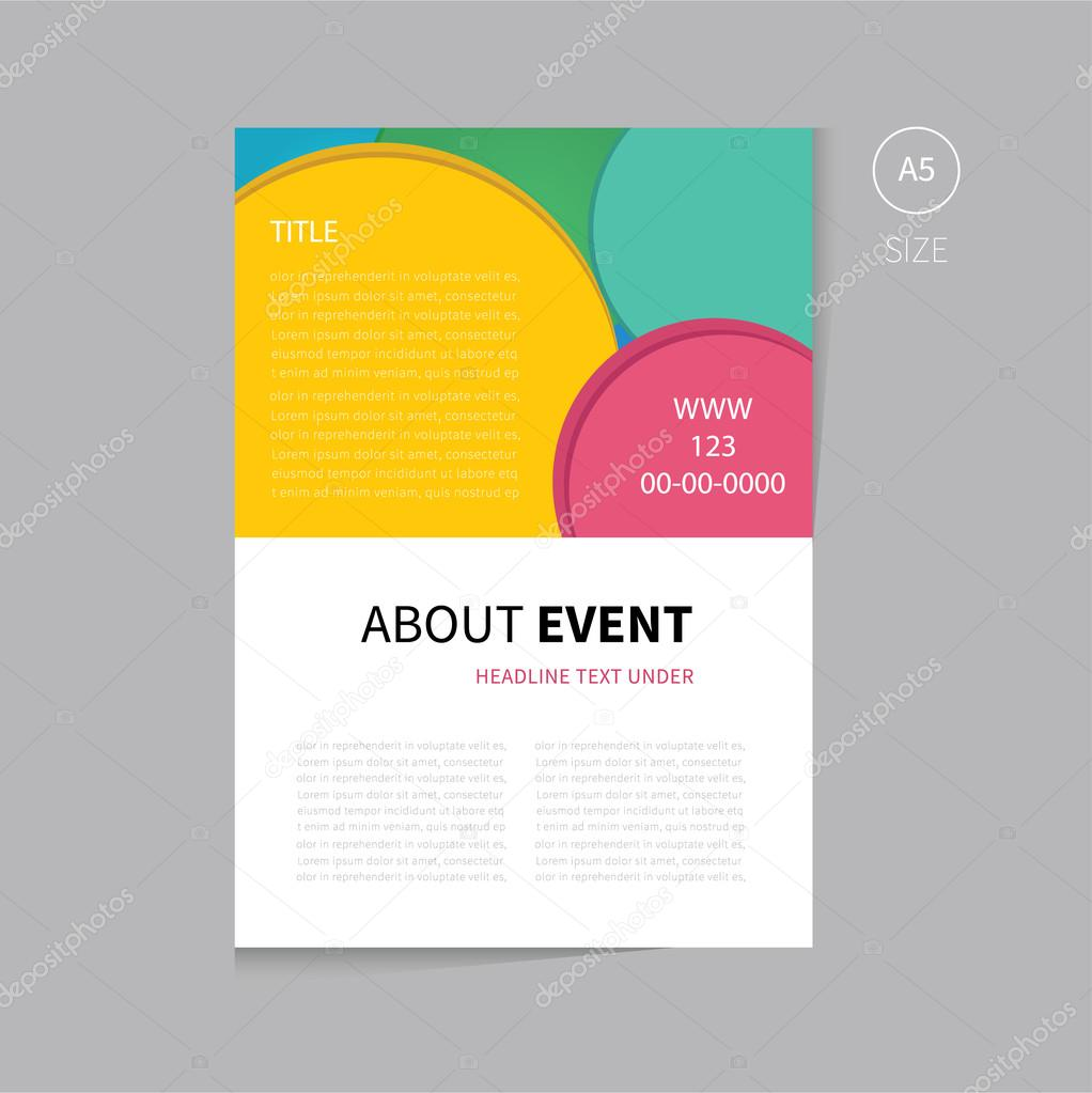 Vector event brochure template design Vector Phillipes – Event Brochure Template