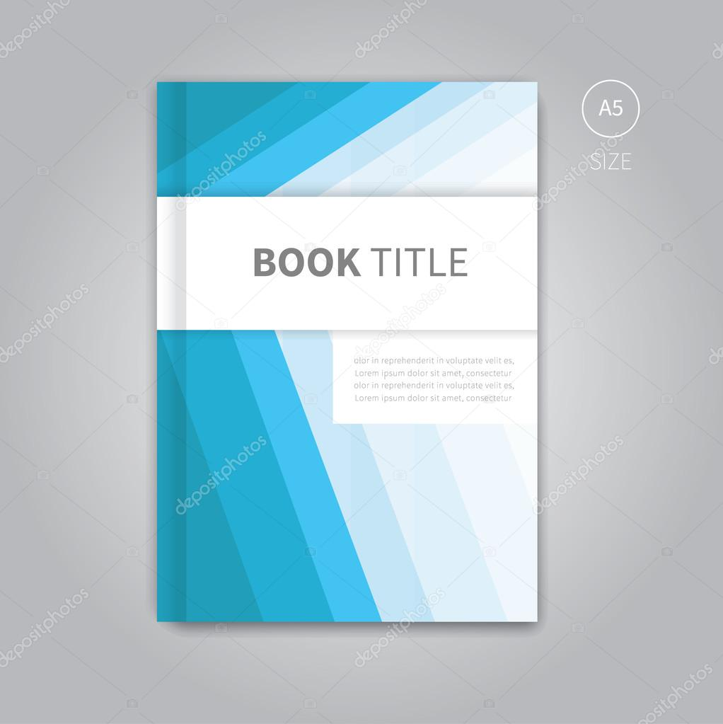 Book Cover Illustration Template : 벡터 책 표지 서식 파일 디자인 — 스톡 phillipes