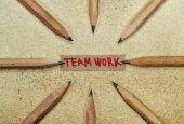 Trabalho de equipa B — Fotografia Stock