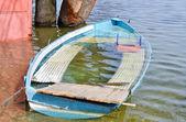 Flooded boat — Stock Photo