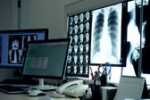 Workplace in x-ray laboratory — Stock Photo