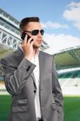 Football players agent — Stock Photo