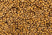 Pile of chopped firewoods — Stock Photo