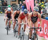 Sarah Groff, womens triathlon — Stock Photo