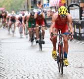 Cycle part of the triathlon — Stock Photo