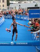 Jonathan Brownlee - finish,2 — Stock Photo