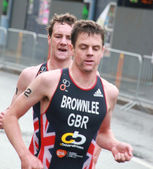 Brownlee brothers, running — Stock Photo