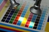Illuminated test print — Stock Photo