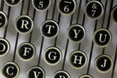 Letters from above on an old typewriter — Stock Photo