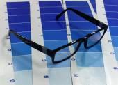 Glasses on a test cyan print — Stock Photo
