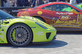 Fast sports-cars before the start of the public event Gumball 30 — Stok fotoğraf