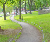 Meander path in the park — Stock Photo