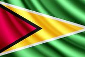 Waving flag of Guyana, vector — Stock Vector