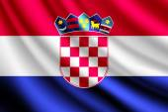 Waving flag of Croatia, vector — Stock Vector