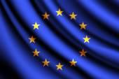Waving flag of European Union, vector — Stock Vector