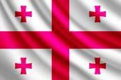 Waving flag of Georgia, vector — Stock Vector